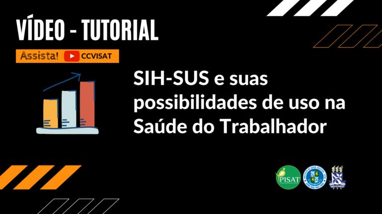 No vídeo, você encontra explicações de como navegar e fazer uso de informações do SIH-SUS e suas possibilidades de uso nas investigações de acidentes de trabalho.